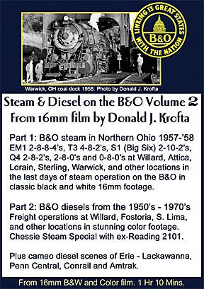 Steam & Diesel on the B&O Volume 2